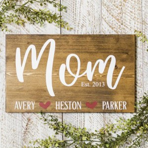 Mom Handmade Solid Wood Sign
