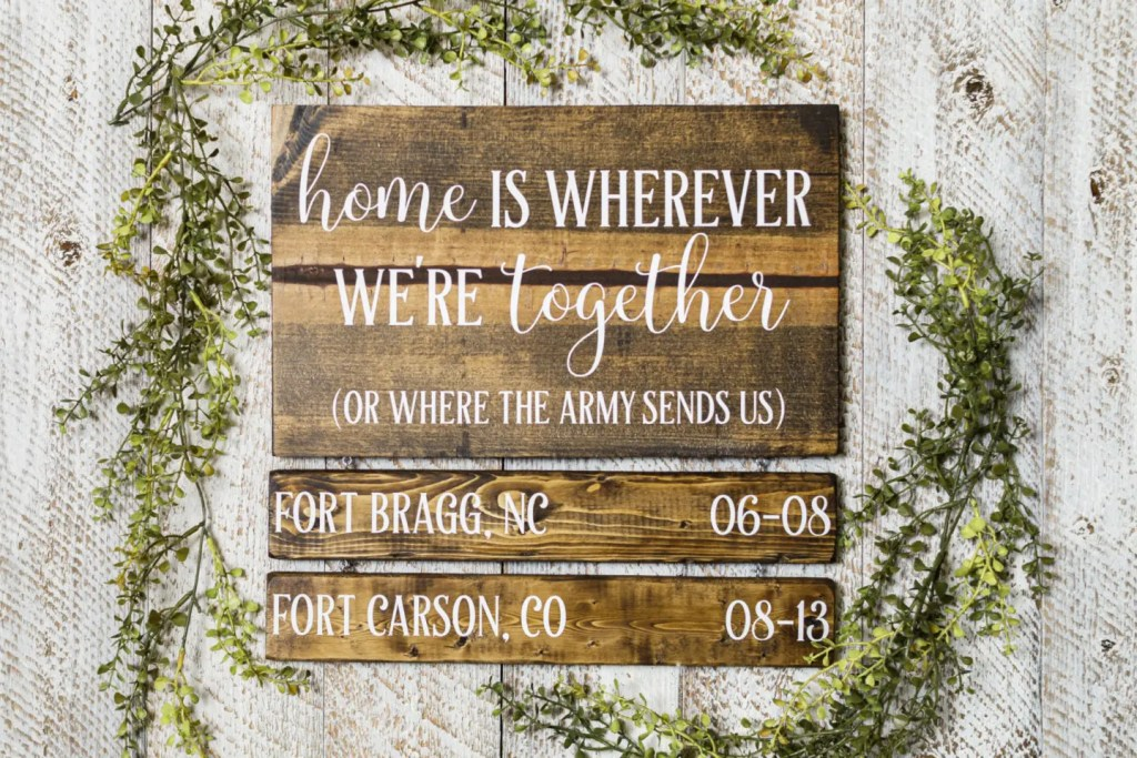 Military Handmade Solid Wood Sign