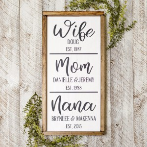 Wood Sign for Mom