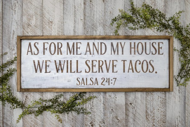 Tacos Wooden Sign