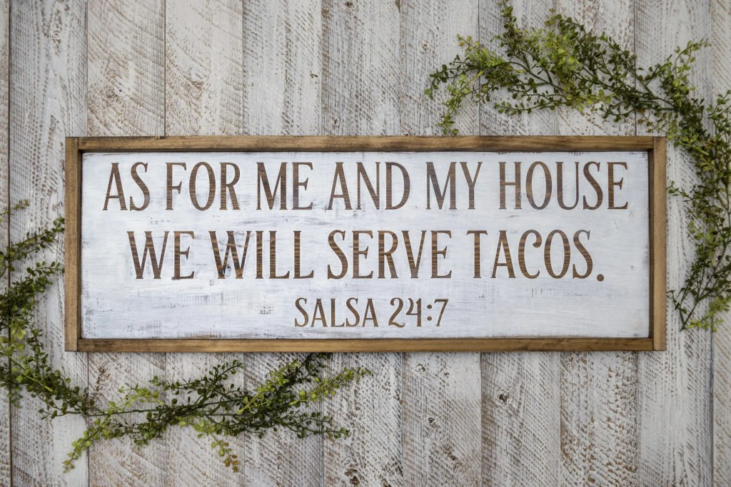 Taco Lover Handmade Solid Wood Sign
