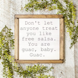 Guac Handmade Solid Wood Sign