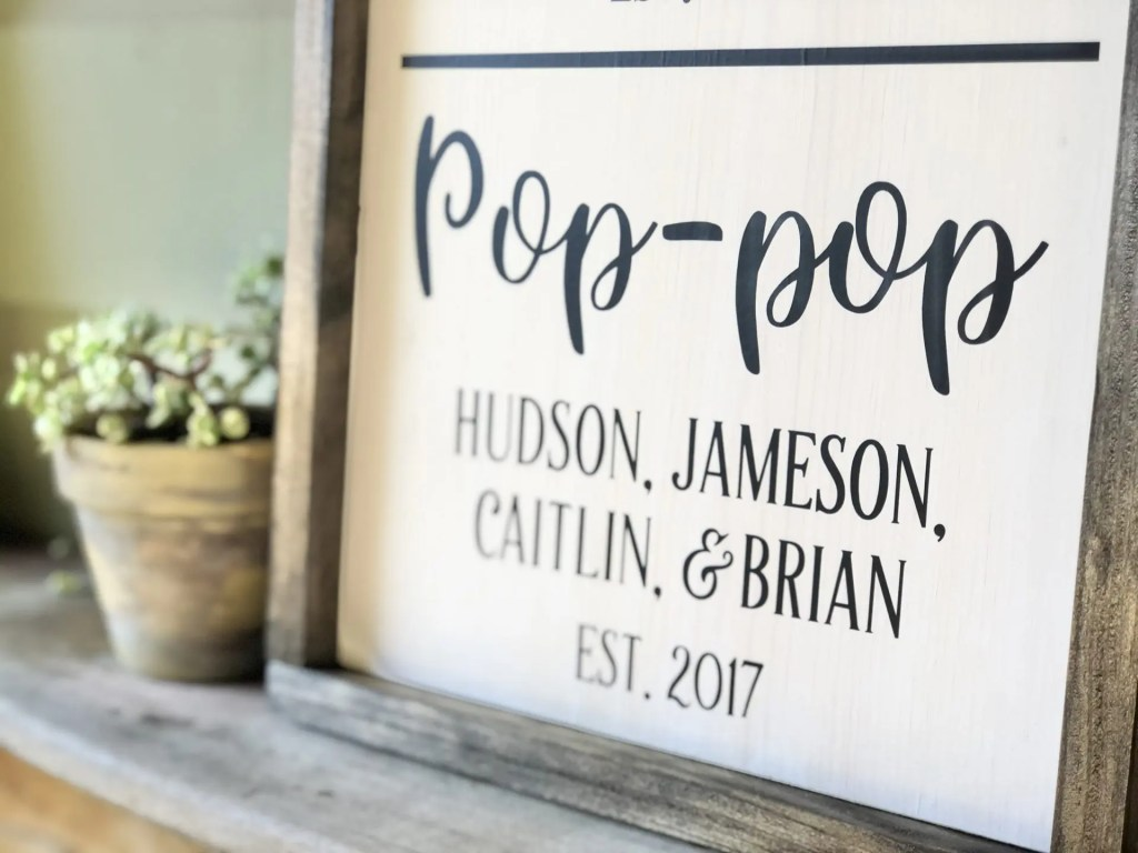 Father's Day Handmade Wood Sign