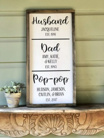 Father's Day Wood Sign