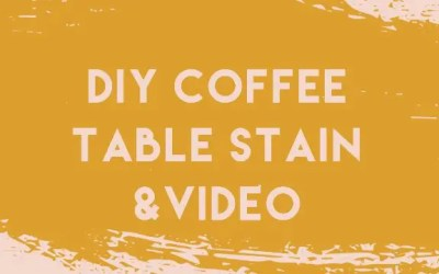 Easy 7 Step Coffee Table Makeover DIY & Video
