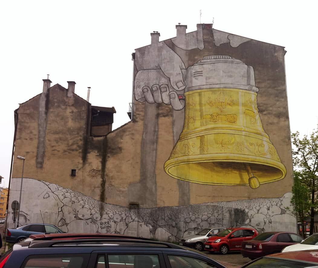 Streetart-Gemälde in Krakau