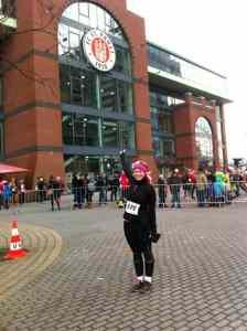 Laufen in Hamburg beim St. Pauli Xmass Run