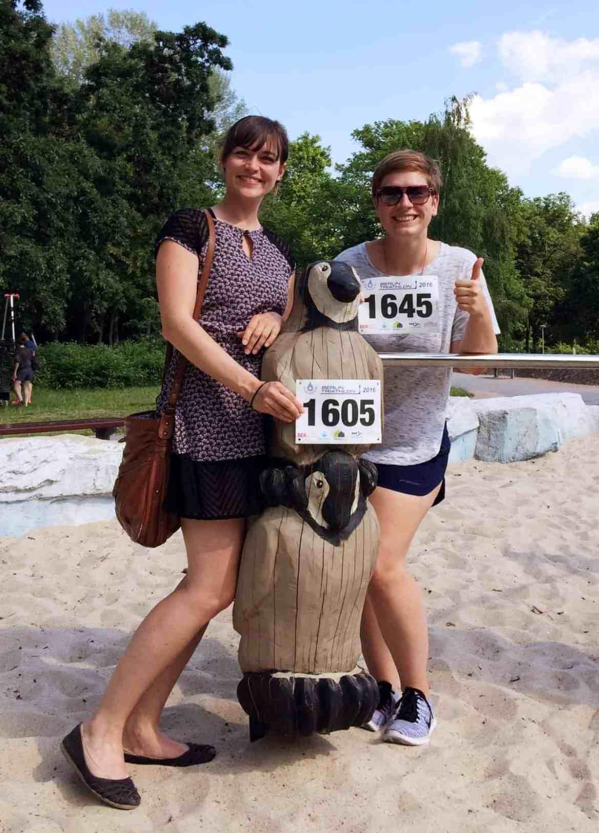 Mit Pinguinpower zum ersten Triathlon: Meine Freundin Sarah startete das erste Mal