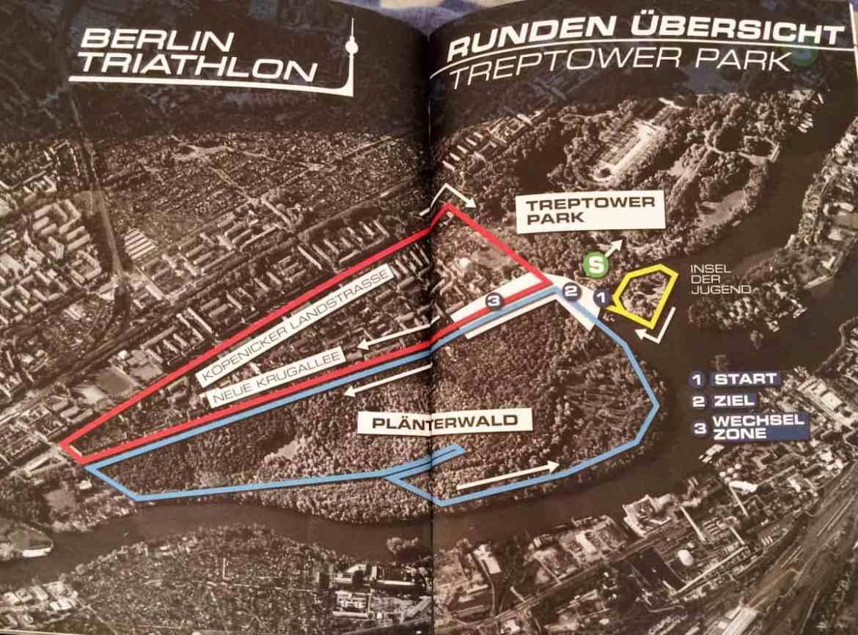 Streckenverlauf Berlin Triathlon 2016