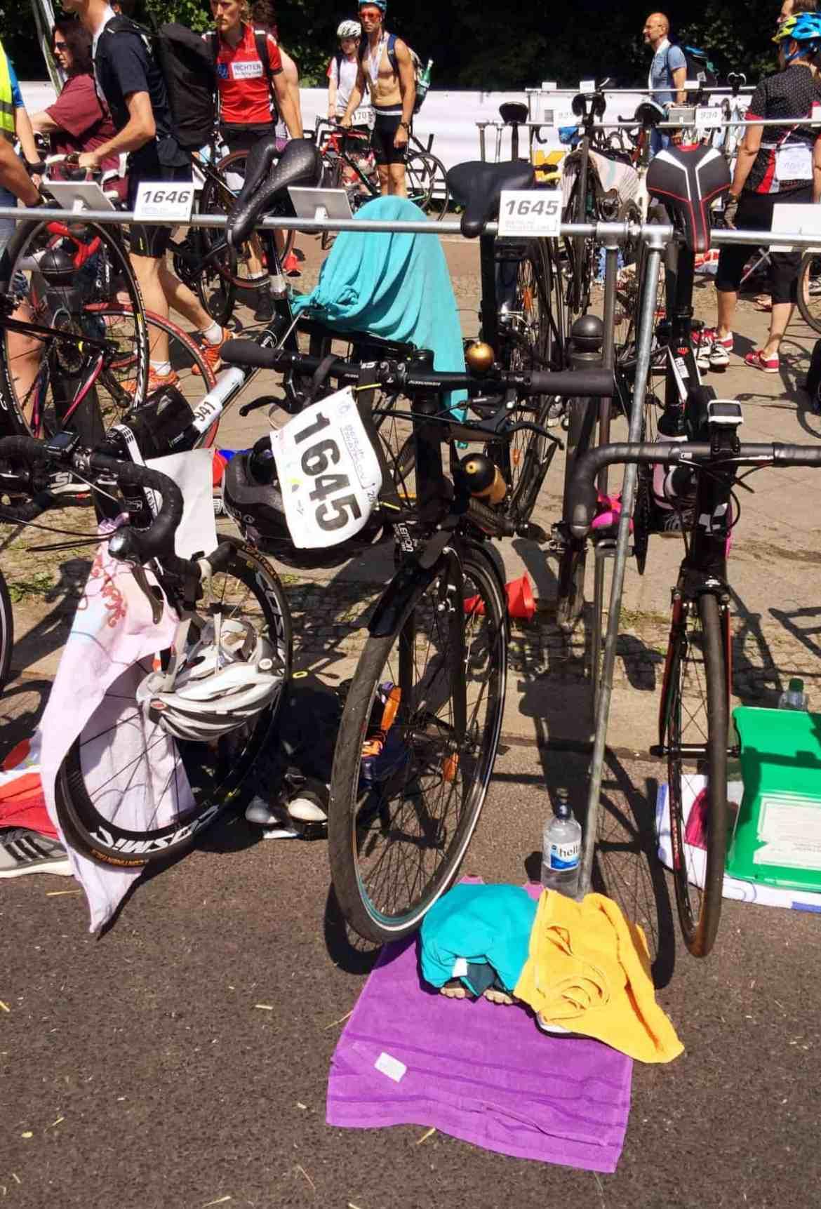 Wechselzone Berlin Triathlon 2016