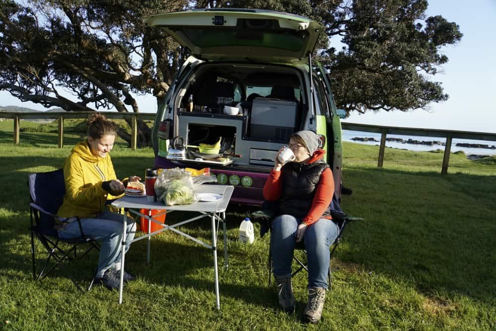 Der erste DOC Campingplatz lag direkt am Strand