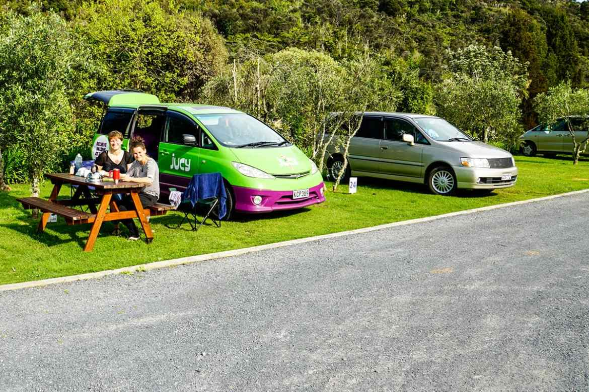 Camping in der Bay of Islands