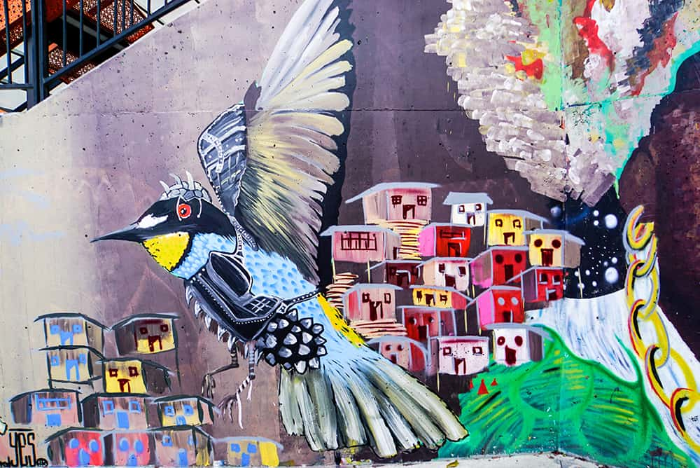 Graffiti in der Comuna 13 in Medellín