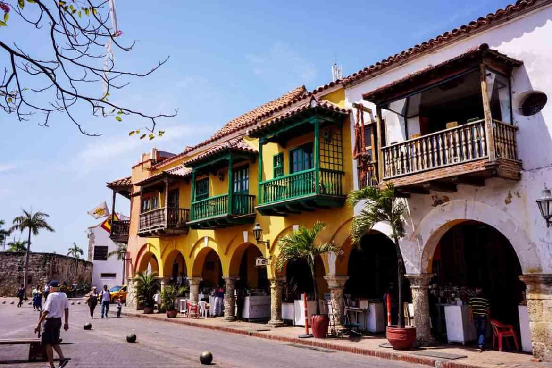 Farbenfrohe Kolonialvillen in Cartagena