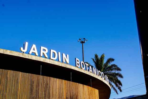 Eingang im Jardin Botanico in Medellín