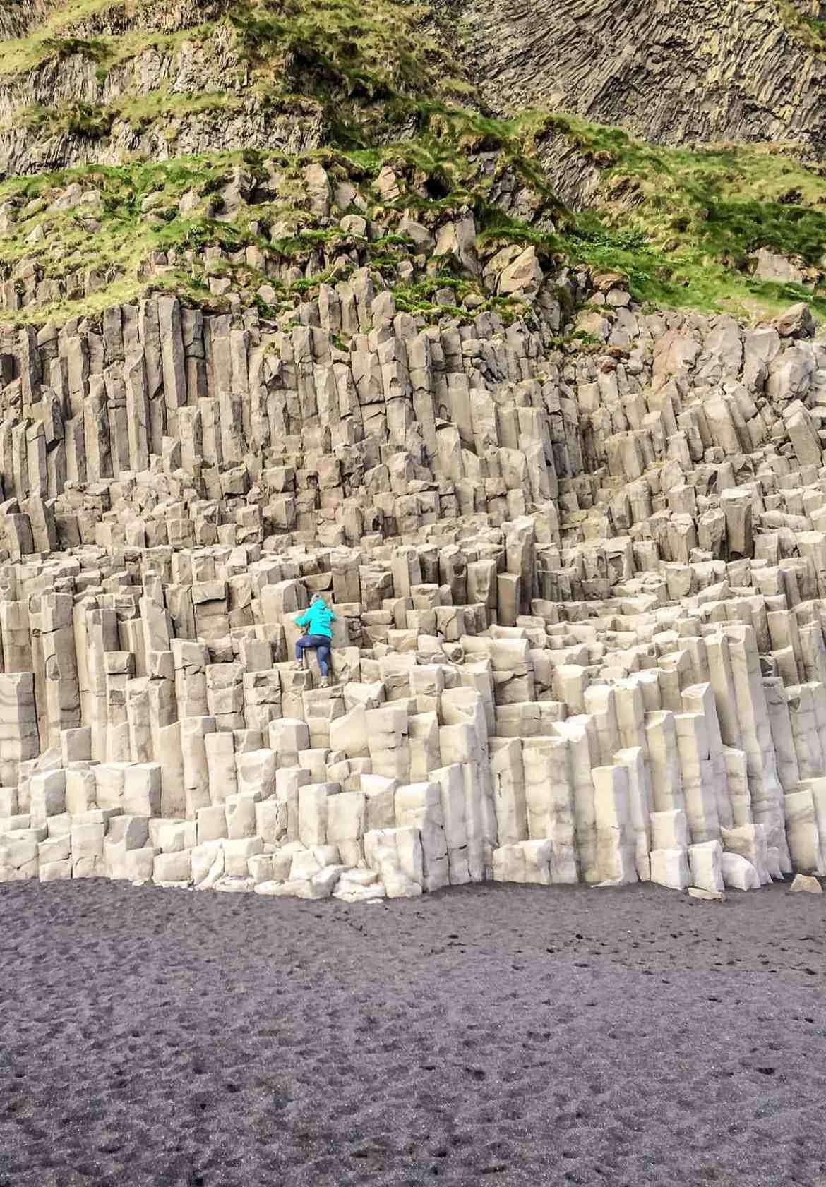 Basaltstrukturen bei Vík