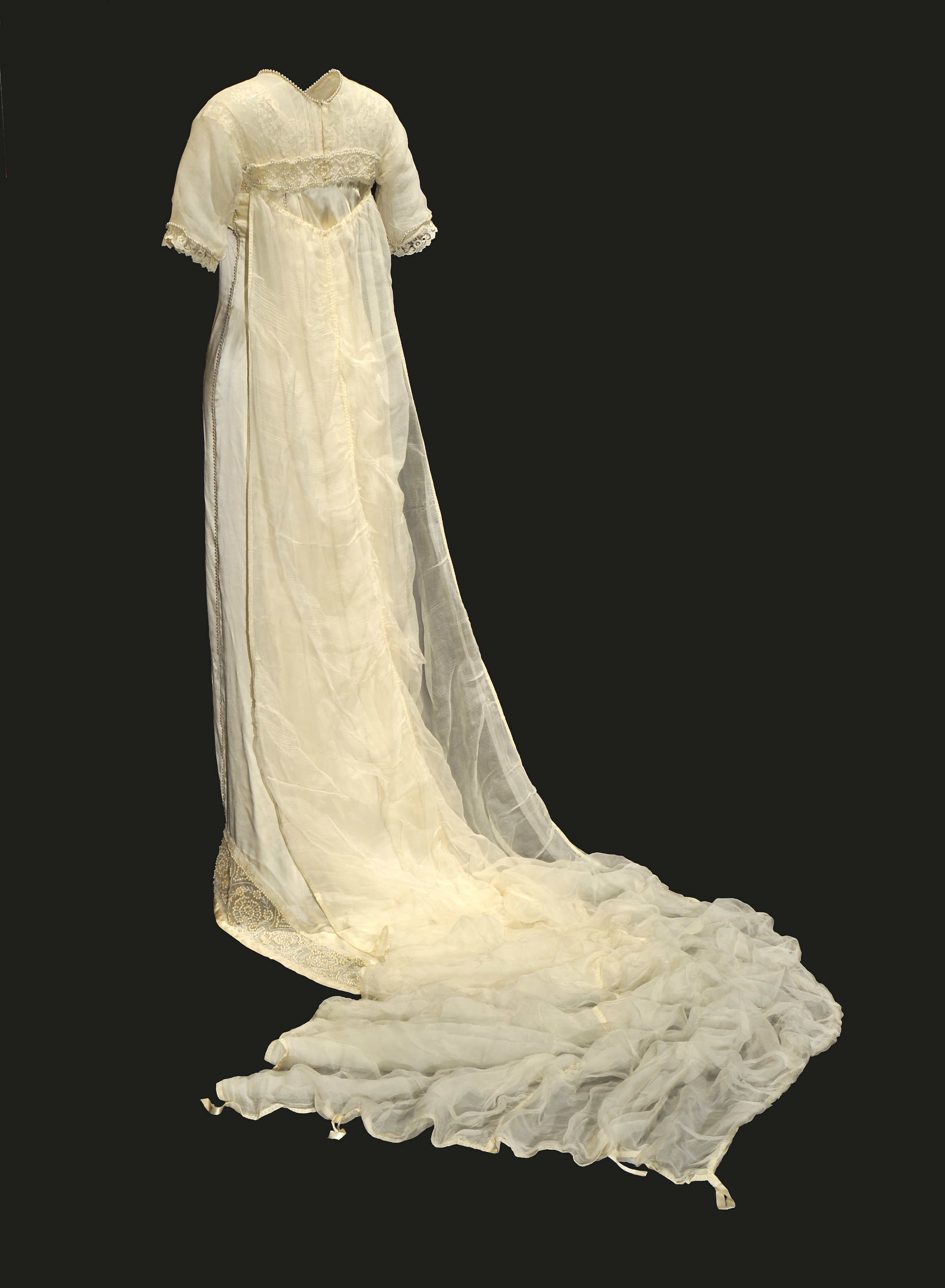 1912 Lucile Wedding Dress With Chiffon Train The Bowes