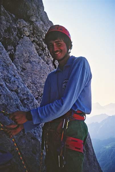 Maurizio Giordani, Via dell'Ideale, Marmolada, Dolomiti Occidentali , 23.07.1988