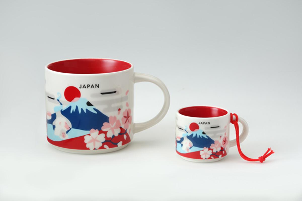 日本星巴克最新日本旅行系列城市馬克杯伴手禮新上市♪富士山及櫻花設計好可愛唷♡