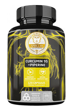 Curcumin 95 + Piperine from Apollos Hegemony is oftenly called the best curcumin supplement on the market. Addition of piperine, highly increase bioavailability of bioactive compounds.