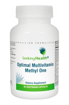 Optimal Multivitamin Methyl One is all-in-one vitamins and minerals containing bioactive forms of vitamins and minerals!