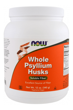 Recommended Natural fibre supplement - Whole Psyllium Husks from NOW Foods