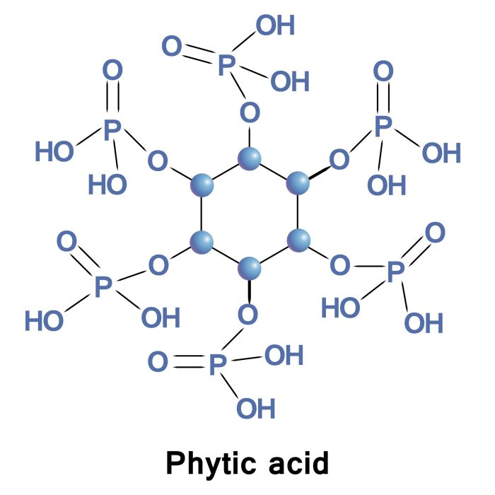 Chemical structure of phytic acid