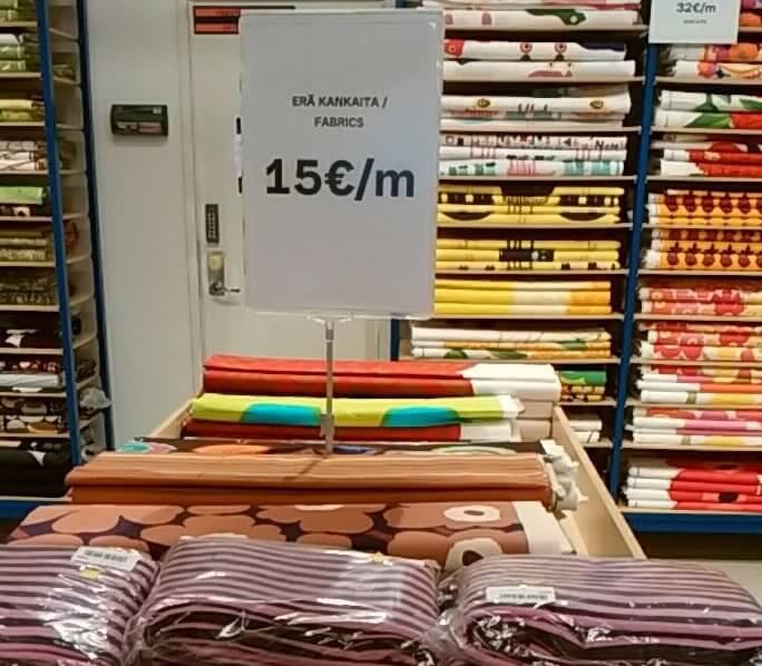 ビニール生地は15ユーロ