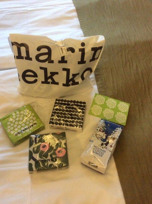 ヘルシンキのスーパーで購入したマリメッコのナプキン