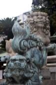 nanbayasaka shrine face statue