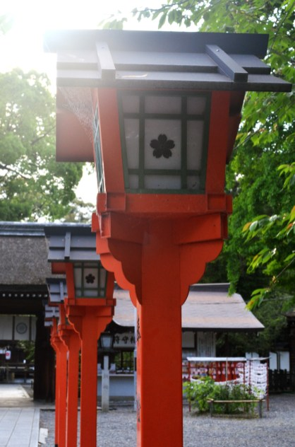Lantern at Hirano Shrine