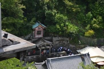 Otowa Waterfalls at a distance