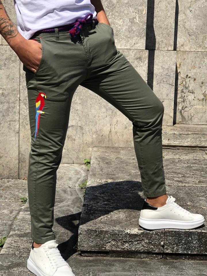 Pantaloni sportivi con papagallo -  Gean luc Paris