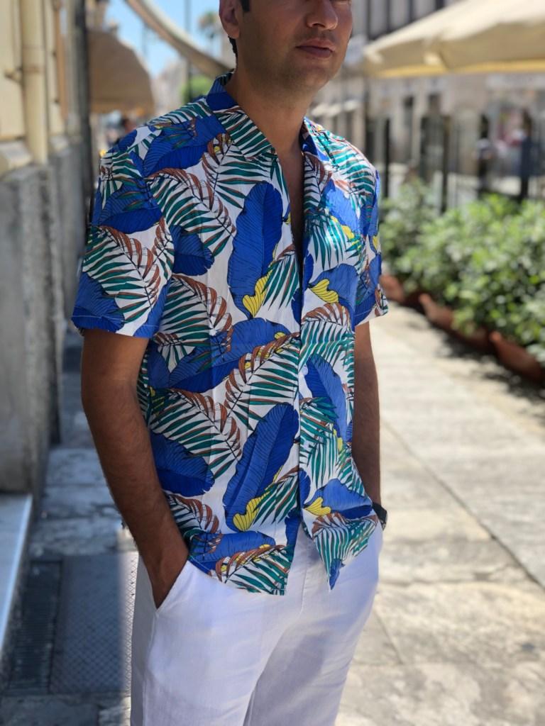 Camicia uomo hawaiana