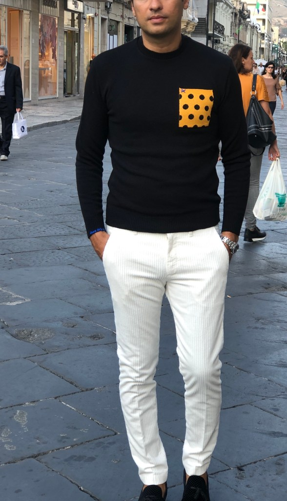 Paul Miranda - pantaloni bianchi in velluto