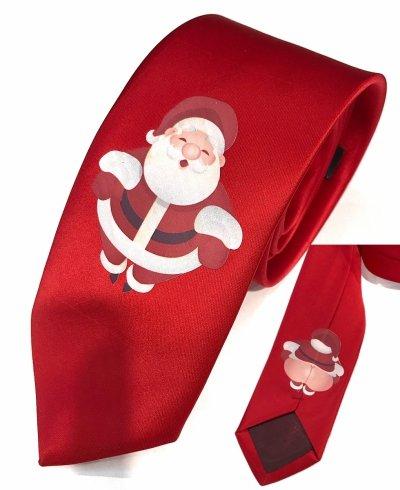 cravatta rossa con babbo natale - idee regalo