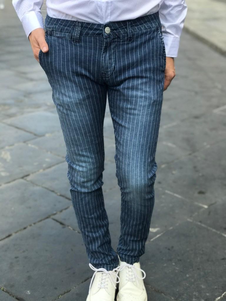 Jeans uomo slim a fantasia