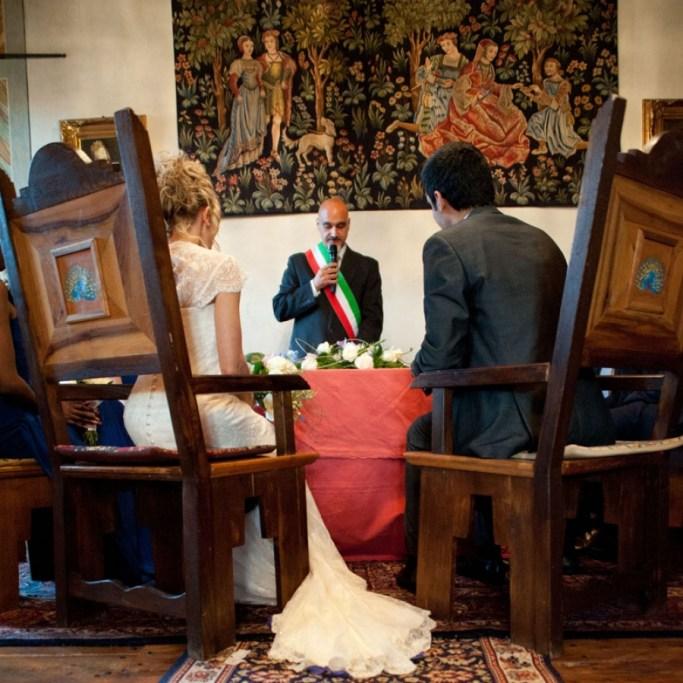 Matrimonio civile - Sposi al comune