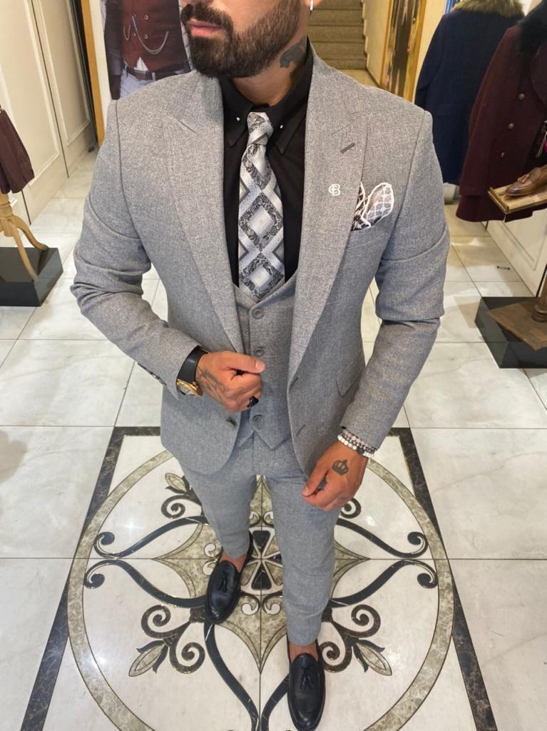 Elegante vestito grigio - Rito civile - gogolfun.it