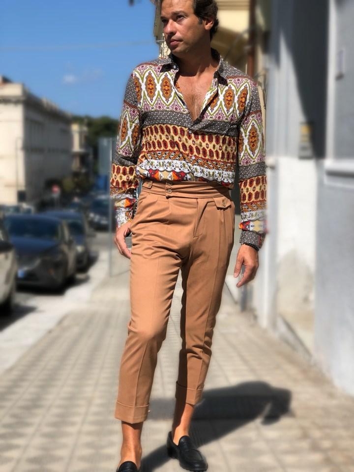 Paul Miranda - Pantaloni uomo bianchi in fustagno - Abbigliamento uomo gogolfun.it