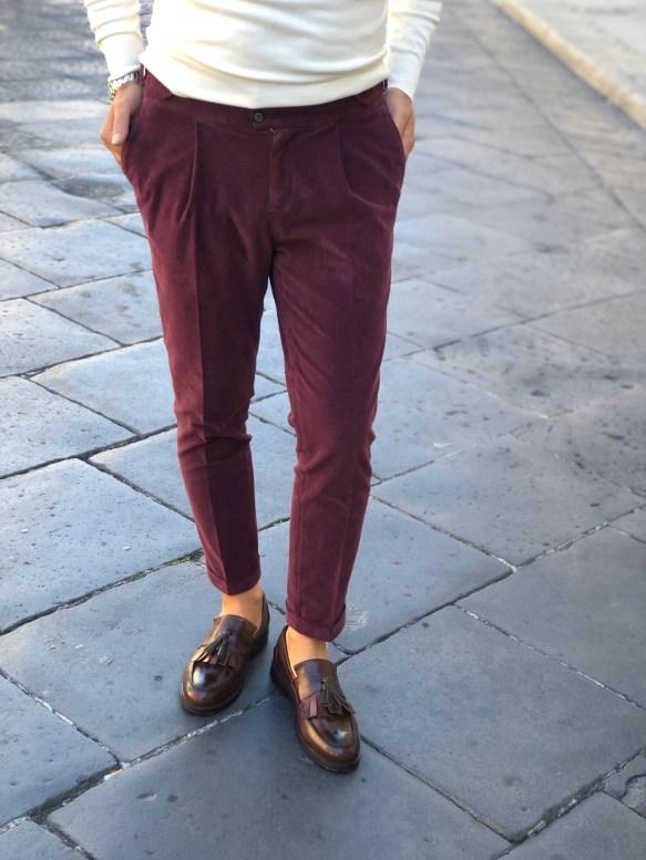 Pantaloni uomo, bordeaux - Paul Miranda - Negozio di abbigliamento gogolfun.it