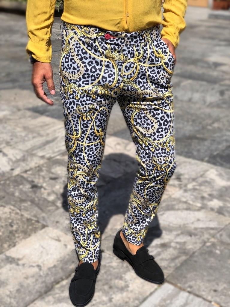 Pantaloni uomo paticolari in stile Cavalli