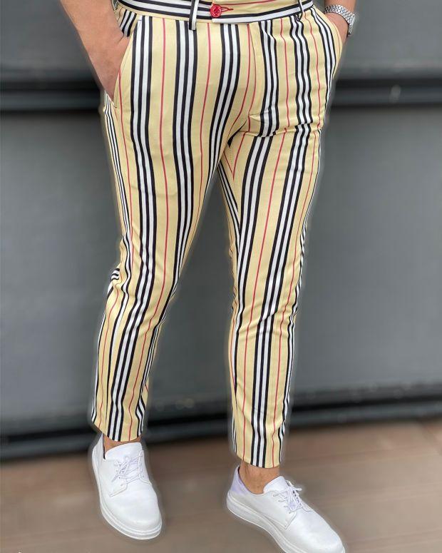 Pantaloni uomo stile Burberry