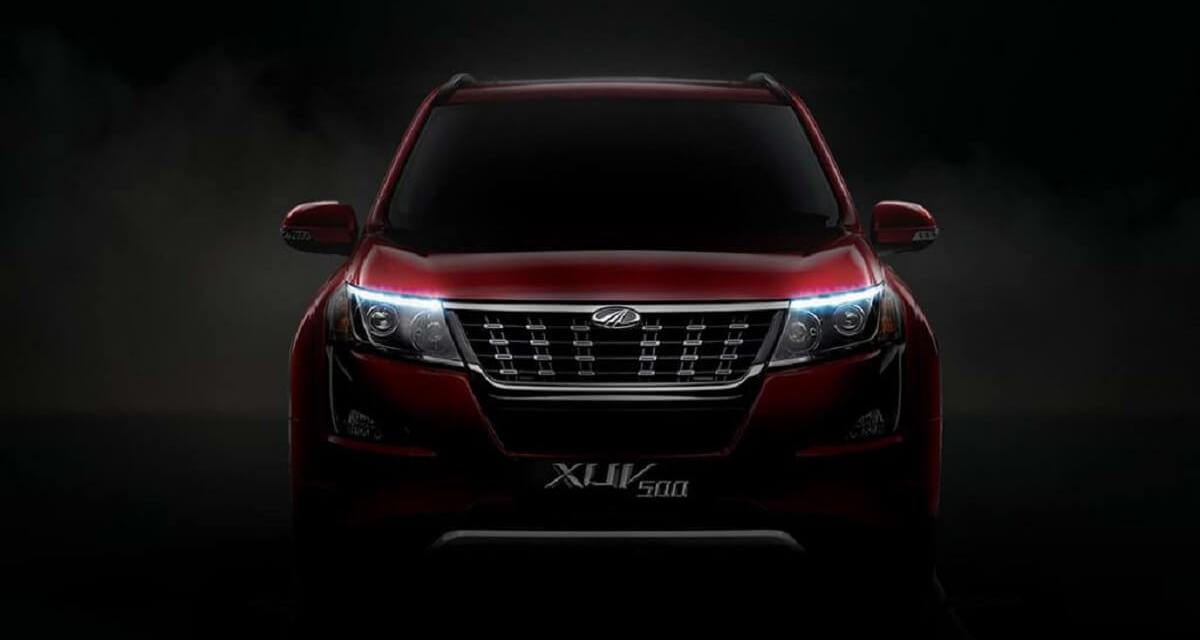 New Mahindra XUV500 Spied With A Set Of Funky Headlamps