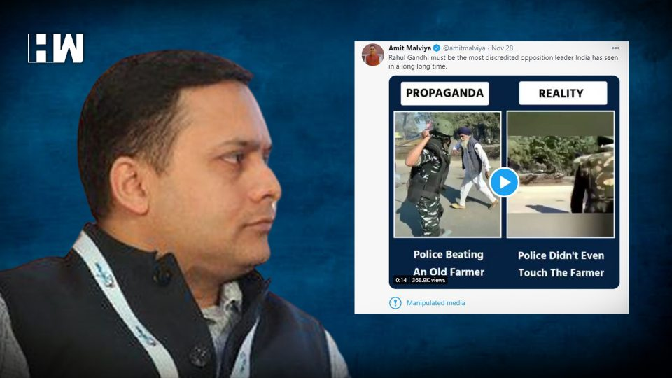 Twitter labelling tweet with manipulated media, 1st time in India