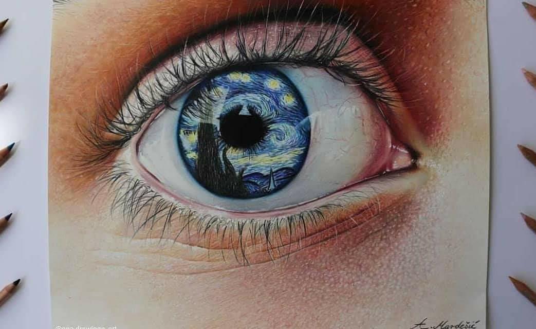 Eye of the Van Gogh – @ana.drawings_art