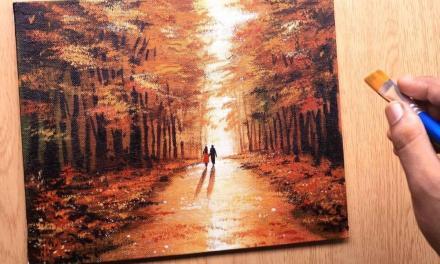 Autumn Love in Acrylics – @shibabasanart
