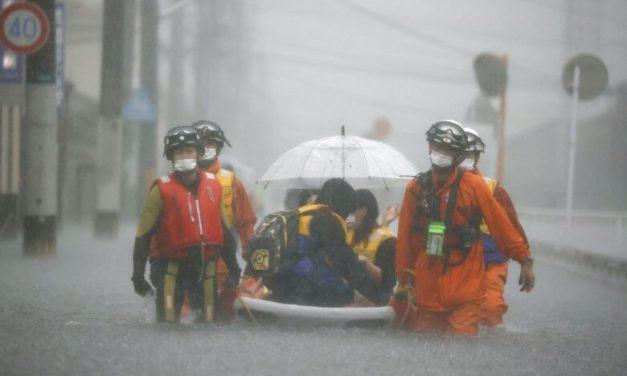 Torrential Rain Slams Japan