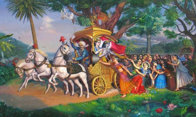 When Shree Krishna left Vrindavan
