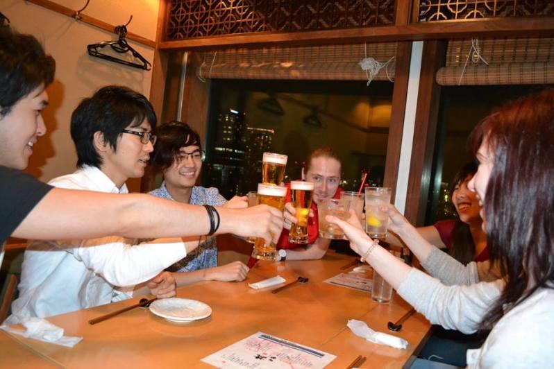 Trinken mit japanischen Freunden